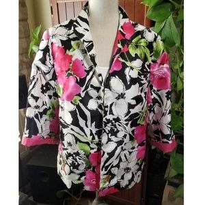 Susan Graver Brand Floral Blazer